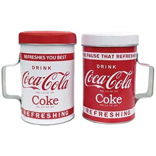 Coca Cola Ceramic Salt and Pepper Shaker Set