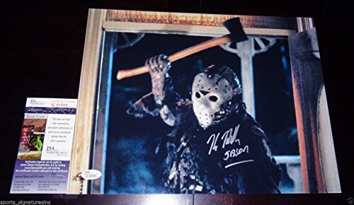KANE HODDER SIGNED 11X14 METALLIC AXE PHOTO JASON FRIDAY THE 13TH JSA COA J569