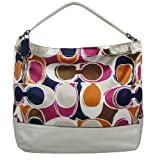 Coach Parker Hand Drawn Scarf Print Hobo 23282 Multicolor
