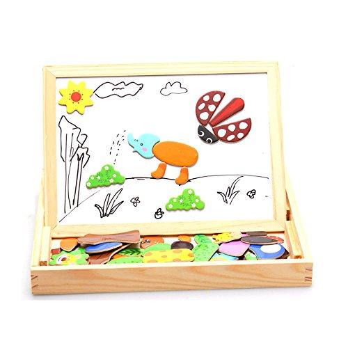 StarMall-Wooden-Children-Kids-Magnetic-Dry-Erase-Board-Blackboard-Whiteboard-Chalkboard-Jigsaw-Puzzle-Animals
