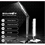 BlitzWolf BW-LT1 Eye Protection Smart LED Desk Lamp Table Lamp Light Rotatable Dimmable 2.1A USB Charging