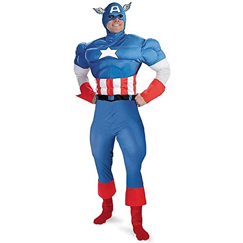 Disguise Mens Marvel Captain America Classic Muscle Costume