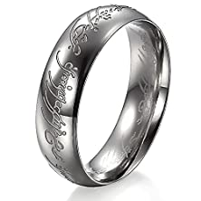 buy 3Aries Fashion Titanium Stainless Steel Silvery Lord-Ring King'S Rings Power Men Ring Size 10