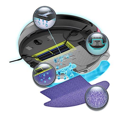 Moneual 2 in 1 robot lavapavimenti e aspirapolvere for Robot aspirapolvere e lavapavimenti samsung