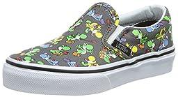Vans Kids Classic Slip On (Nintendo) Yoshi/Pewter Skate Shoe 1 Kids US