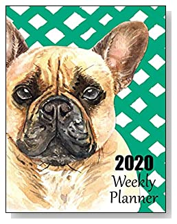 French Bulldog 2020 Dated Weekly Planner - A fun canine-themed planner to help any dog lover stay organized and keep track of activities on a daily, weekly, and monthly basis from January to December 2020.