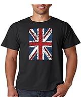 Juiceclouds | Mens Distressed Union Jack T Shirt United Kingdom National Flag S-5XL