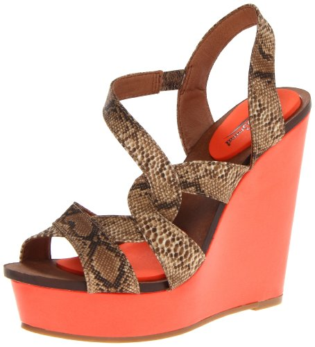 Lucky Brand Women's Yulia Natural Ankle Strap 4.5 UK