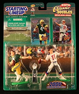 BRETT FAVRE GREEN BAY PACKERS & DREW BLESOE NEW ENGLAND PATRIOTS 2000 NFL Classic... by Starting Line Up