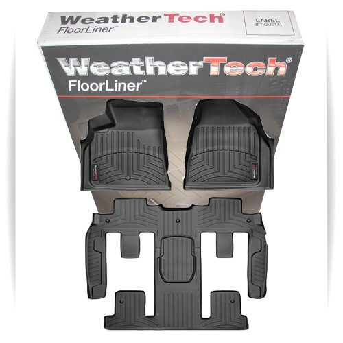 Full Set WeatherTech All Weather Custom Fit Floor Mat Liner for 2008-2014 Buick Enclave (Enclave Weathertech compare prices)