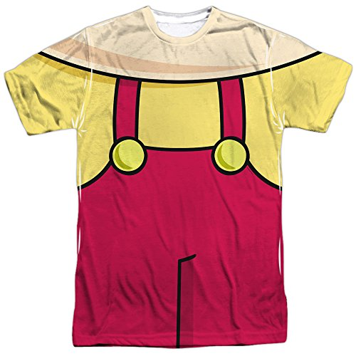 Family Guy Adult Cartoon Comedy TV Show Stewie Costume Adult Front Print T-Shirt