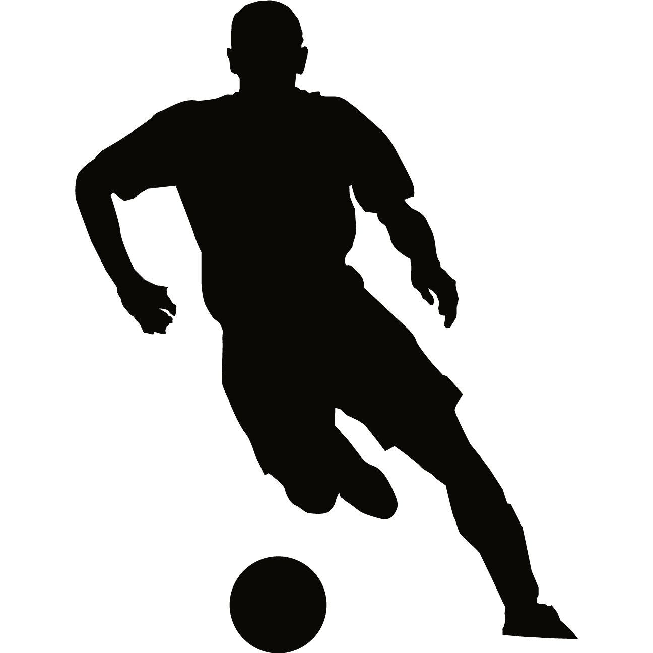 Soccer Player Silhouet...