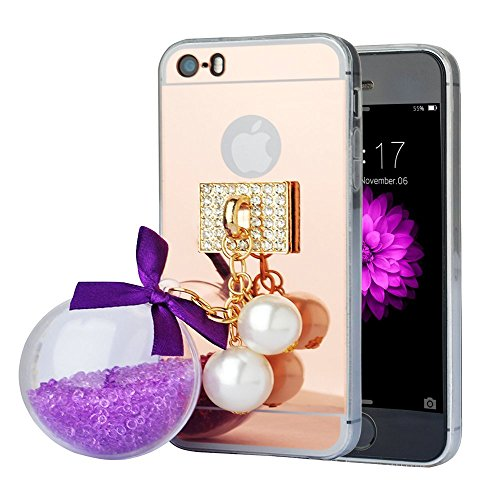 spritechtm-fahion-cellphone-casegold-slippy-mirror-soft-smartphone-cover-with-a-lovely-quicksand-pen