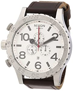 Nixon Men's NXA1241113 Chronograph Silver Dial Watch