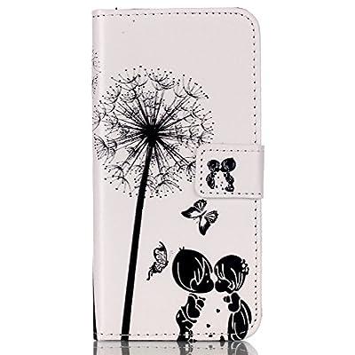 LG G Stylo Case LG G4 Stylus Case LG LS770 Case,Tribe-Tiger Stylish Valentine Dandelion Design Premium Leather Magnet Slim Flip Kickstand Case Cover for LG G Stylo/LG G4 Stylus from Tribe-Tiger