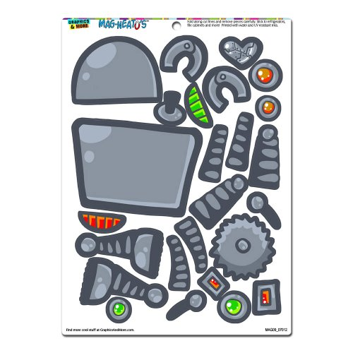Graphics And More 'Robot Dress-Up' Funny Mag-Neato'S Novelty Gift Paper Doll Locker Refrigerator Vinyl Magnet Set front-570250