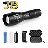 JABAL Led Rechargable Torch 1000 Lumen Tactical Brightest Flashlight Zoom Best Bike Cree LED Mini Strobe Police Military Grade. Streamlight Waterproof. 3 YEAR WARRANTY