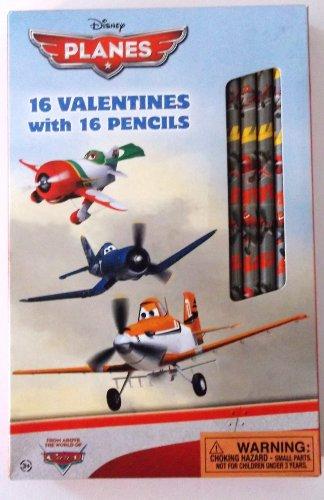 Disney Planes 16 Valentine Cards - 1