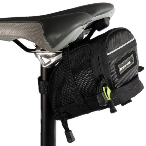 Roswheel Mtb Road Bicycle Cycling Saddle Bike Seat Bag Black Size L front-464684