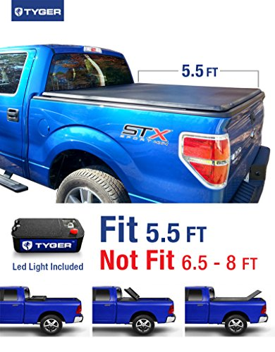 Tyger Auto TG-BC3F1019 Tri-Fold Pickup Tonneau Cover (Fits 09-14 Ford F-150 (NOT Raptor Series) w/o Utility Track 5.5 feet (66 inch)) (Truck Bed Cover 2014 F150 compare prices)