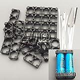 20 x 2本用 18650 Li-ion リチウム電池 充電池 ブラケット バッテリーブラケット 円筒セル ホルダー セット リチウム電池接続ニッケルストリップ付 EV 電気自動車 バイク オモチャ DIY
