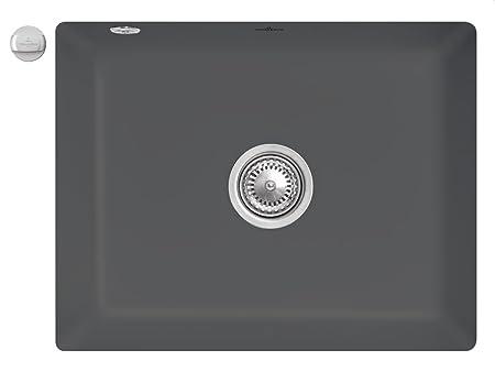 Villeroy & Boch Subway 60 SU Colour gris grafito de cerámica-fregadero de la cocina