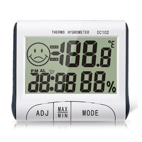 Samshow Digital Indoor Desk Hygrometer Thermometer LCD Display Alarm Clock Timer DC102