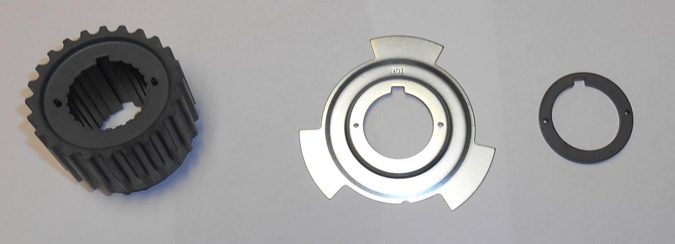 Genuine Mitsubishi Timing Belt Lower Crankshaft Sprocket Gear Pulley, Trigger Plate, Spacer, Key PKSPROCKET MD184894 MD184901 MD309036 MD008959 Montero Sport 3.0L 3.5L Engines
