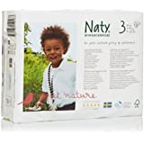 Naty by Nature Babycare Size 3 (9-20 lbs/4-9 Kg) Nappies - 4 x Packs of 31 (124 Nappies)