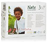 Naty by Nature Babycare Size 3Â (9-20 lbs/4-9 Kg) Nappies - 4 x Packs of 31 (124 Nappies)