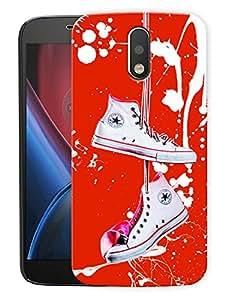 "Shoes My LifePrinted Designer Mobile Back Cover For ""Motorola Moto G4 PLUS"" (3D, Matte, Premium Quality Snap On Case)"