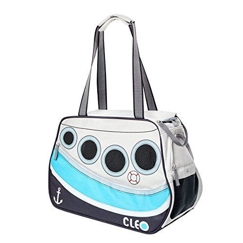 Cleo By Teafco Petoboat Airline Approved (19″Medium) Pet Carrier – Ocean Blue/Gray