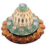 Ghasitaram Gifts Green Floating Light Diya