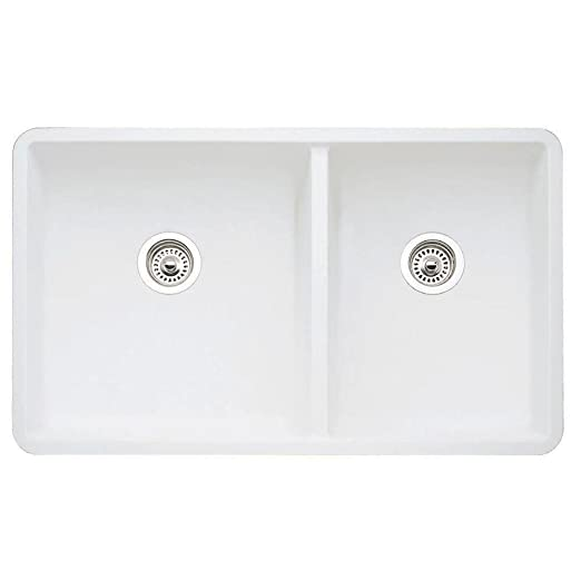 Blanco 441125 16-Inch Précis 1-3/4 Bowl Sink, White