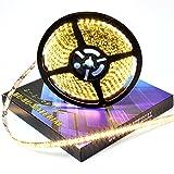 ぶーぶーマテリアル LED テープ シャンパンゴールド 金 暖白 電球色 600連 高輝度  5m 12V 黒ベース 防水 イルミネーション 電装品 【カーパーツ】