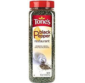 Tone's Spices Restaurant Black Pepper (18 oz)