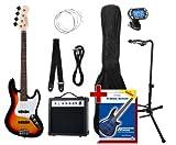 Rocktile Groover's Pack JB E-Bass Set III Sunburst