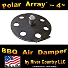 4 Polar Array BBQ Grill, Smoker or Pit Air Venting Damper Kit