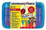 Eberhard Faber 524011 - Wachsmalkreiden dreiflächig, 10 Stück in Plastikbox hergestellt von Eberhard Faber