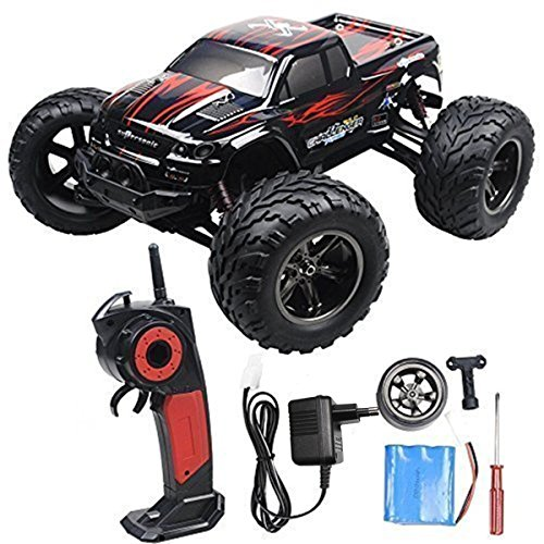 24GHz-35MPH-Ferngesteuertes-Auto-Truck-Lastkraftwagen-Buggy-Truggy-Fels-Kriecher-Schnelle-Geschwindigkeit-High-Speed-RC-Car-Red