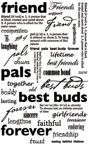Rub-On Sentiments & Phrases 5-1/2 Inch X9 Inch -Friend