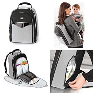 chicco backpack diaper bag pearl romantic. Black Bedroom Furniture Sets. Home Design Ideas