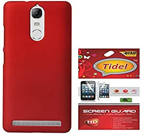 Tidel Ultra Thin and Stylish Rubberized Back Cover for Lenovo Vibe K5 Note (RED) With Tidel Screen Guard