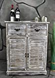 Kommode-Schrank-mit-Schubladen-Landhaus-Shabby-Chic-Vintage-Wei-LV1006