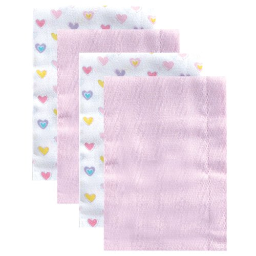 Luvable Friends 4 Count Birdseye Prefold Cloth Diapers, Pink