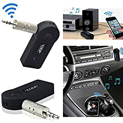 Evana EDUP EP-B3511 Mini Portable 3.5mm Input Bluetooth V3.0 Audio Receiver w/ HF Call + MIC - Black