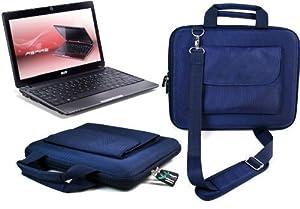 """UltimateAddons Blue Hard Netbook Briefcase Bag EVA for Acer Aspire One 721 11.6"""""""
