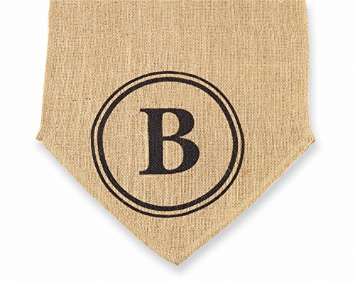 Mud Pie Initial Burlap Table Runner, Monogram B front-550191