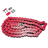 520 Pitch Red O-Ring Chain 104 Links for Yamaha YFZ350 Banshee 1987 1988 1989 1990 1991 1992 1993 1994 1995 1996 1997 1998 1999 2000 2001 2002 2003 2004 2005 2006