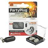 Alpine PartyPlug 2015 - Gehörschutz für Musik, Konzerte & Festival, Gratis Miniboxx, transparent